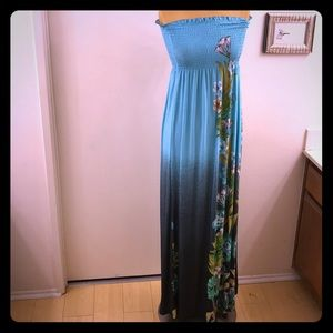 JUST LOVE Strapless Maxi Beach Dress- Island style